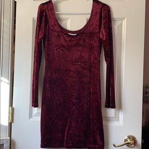NEVER WORN Burgundy Velvet Dress